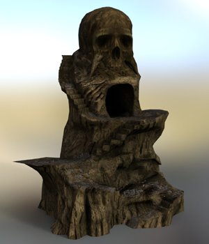 Skull Rock Mountain for DAZ Studio 3D Models VanishingPoint