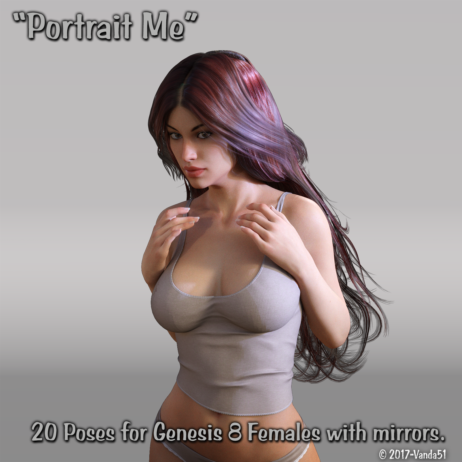 Portrait Me - Poses for Genesis 8 Females by Vanda_Mata