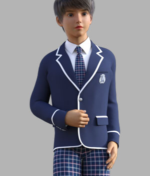 GaoDan School Uniforms 21 3D Figure Assets gaodan