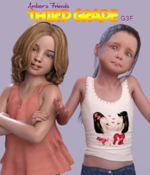 Amber's Friends Third Grade 3D Figure Assets AliveSheCried
