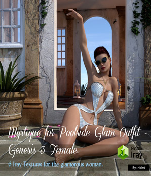 Mystique for Poolside Glam Texture Set 3D Figure Assets nelmi
