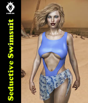JMR Seductive Swimsuit for G8F 3D Figure Assets JaMaRe