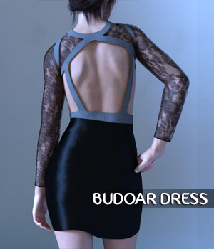 Budoar Dress For G3 3D Figure Assets spows