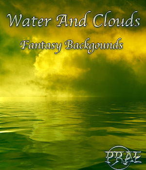 Prae-Water and Clouds Fantasy Backgrounds 2 2D Graphics prae