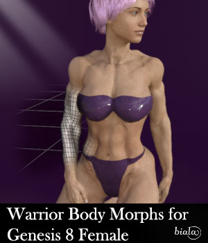 Warrior Body Morphs for Genesis 8 Female 3D Figure Assets biala