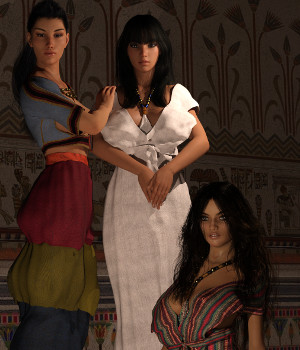 Minoan Era for Genesis 3 Female and Genesis 8 Female 3D Figure Assets Deacon215