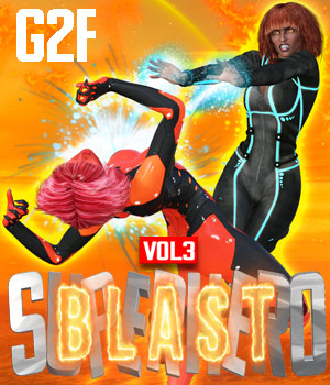 SuperHero Blast for G2F Volume 3 3D Figure Assets GriffinFX