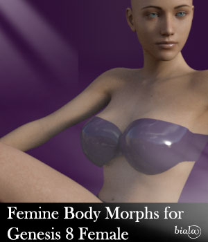 Femine Body Morphs for Genesis 8 Female 3D Figure Assets biala
