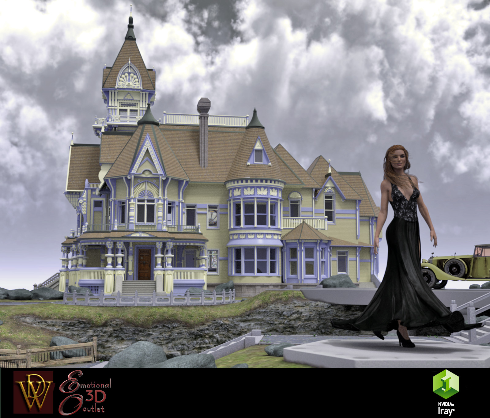 MS17 Carson Mansion for DAZ 4.9