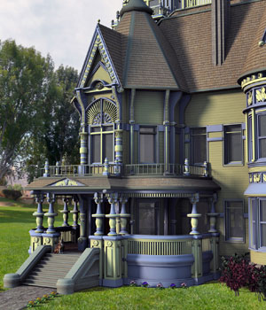 MS17 Carson Mansion for DAZ 4.9 3D Models London224