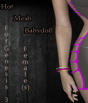 Hot Mesh Babydoll For Genesis 3 Females 3D Figure Assets Honor