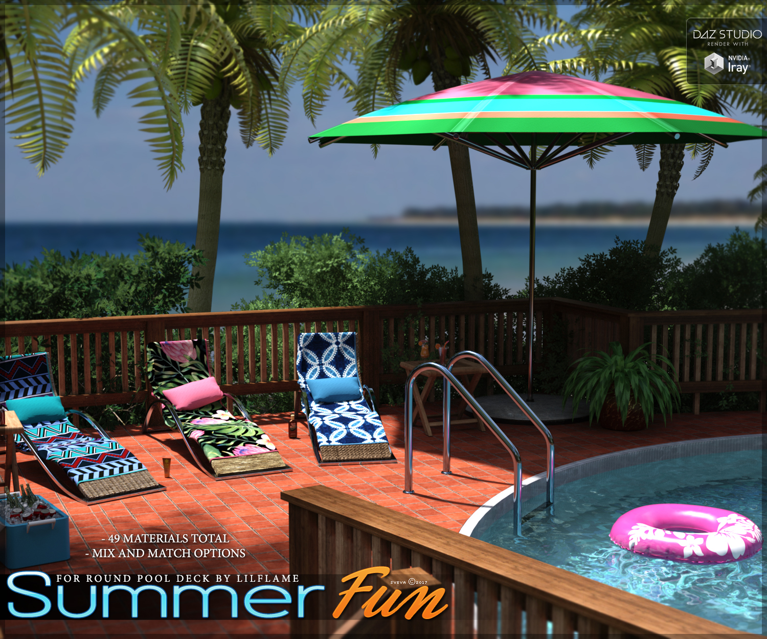 Summer Fun for Round Pool Deck