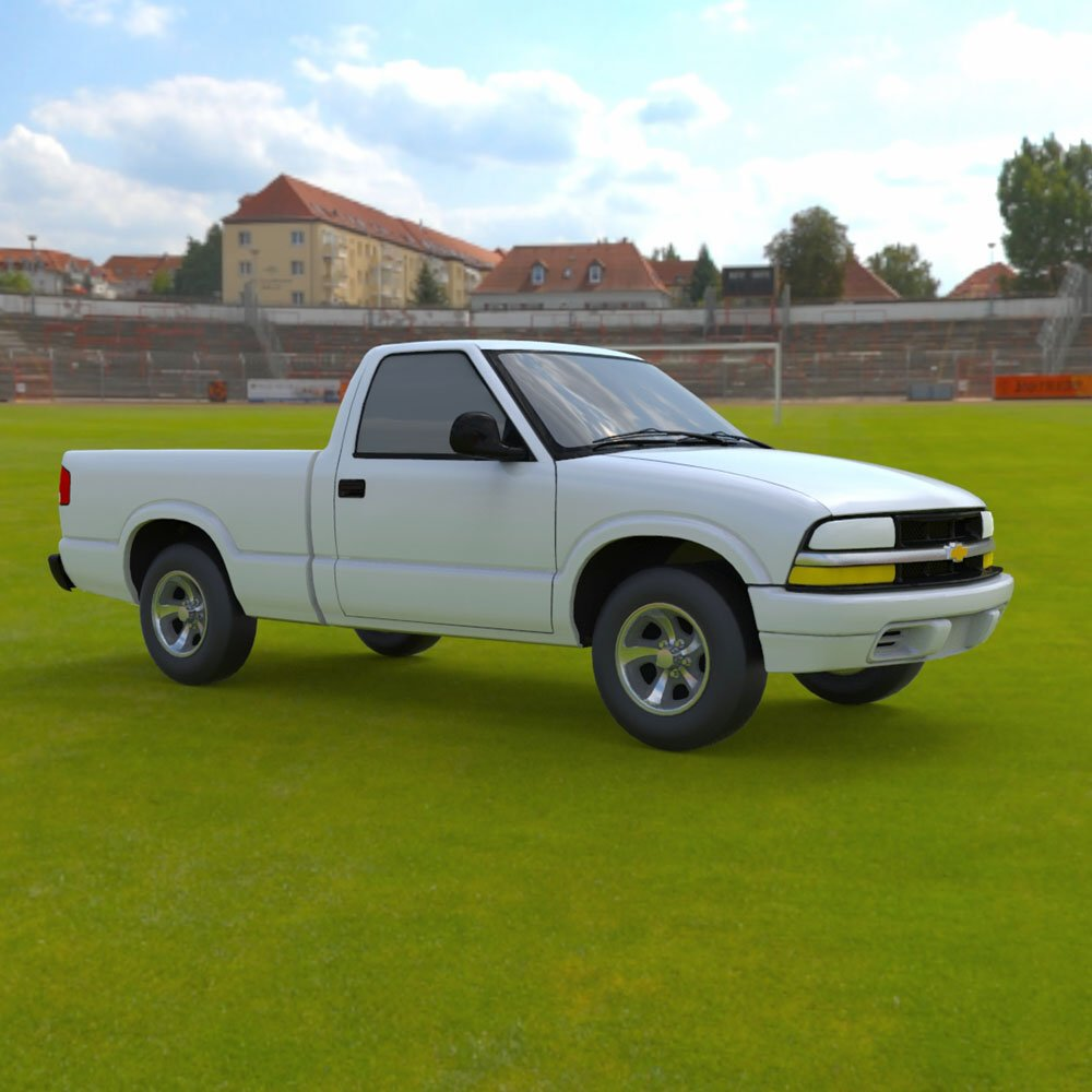 Chevy S10 Pickup 1998 - 3ds and obj - Extended License