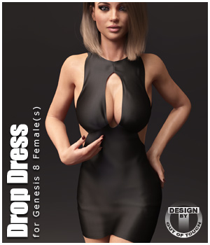 Drop Dress for Genesis 8 Females 3D Figure Assets outoftouch