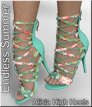 Endless Summer - for Alisia High Heels 3D Figure Assets LUNA3D
