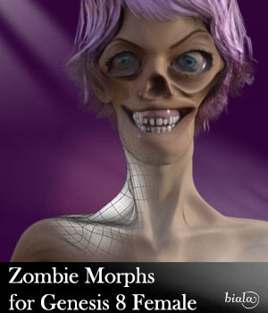 Zombie Morphs for Genesis 8 Female 3D Figure Assets biala