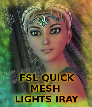 FSL Quick Mesh Lights Iray 3D Lighting : Cameras fuseling