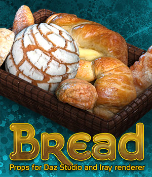 Exnem Bread for Daz Studio and Iray 3D Models exnem