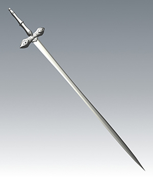 Medieval Sword - Extended License 3D Models Extended Licenses Guilhem_Bedos
