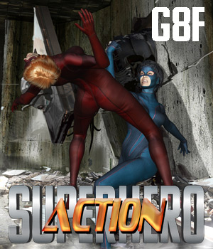 SuperHero Action for G8F Volume 1 3D Figure Assets GriffinFX