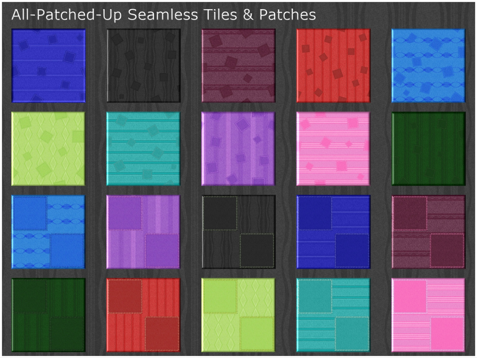 All-Patched-Up Seamless Tiles