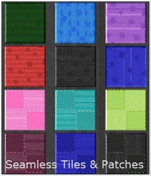 All-Patched-Up Seamless Tiles 2D Graphics Merchant Resources PandaB5