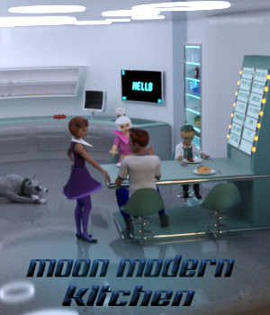 Moon Modern Kitchen 3D Models dhouck