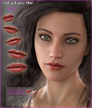GDN Put a Face on for Genesis 8 Female The Lips 3D Figure Assets Godin