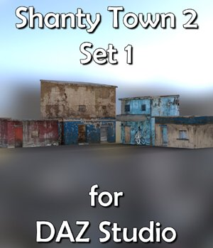 Shanty Town Buildings 2: Set 1  for DAZ Studio