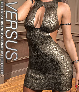 VERSUS - Drop Dress for Genesis 8 Females 3D Figure Assets Anagord