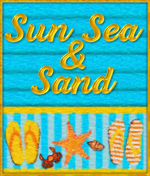 Sun Sea and Sand Watercolor Pack 2D Graphics Merchant Resources fractalartist01