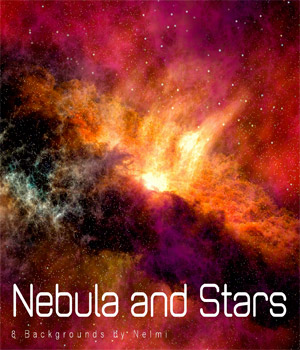 8 High Resolution Nebula and Stars Backgrounds 2D Graphics nelmi