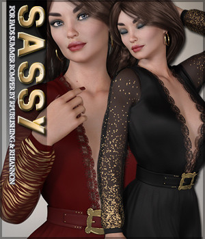Sassy for Fads Summer Romper 3D Figure Assets Sveva