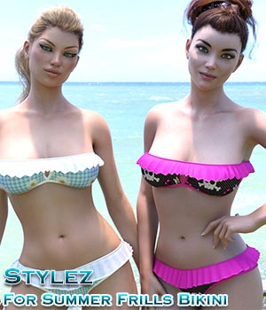 Stylez For Summer Frills Bikini 3D Figure Assets Calico