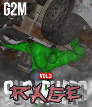 SuperHero Rage for G2M Volume 3 3D Figure Assets GriffinFX