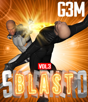 SuperHero Blast for G3M Volume 3 3D Figure Assets GriffinFX