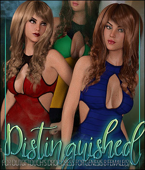 Distinguished for Drop Dress 3D Figure Assets ShanasSoulmate