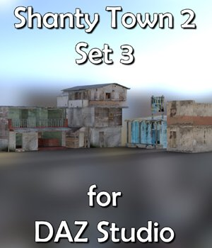 Shanty Town Buildings 2 Set 3 for DAZ Studio 3D Models VanishingPoint