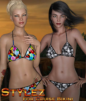 Stylez For Cruise Bikini 3D Figure Assets Calico