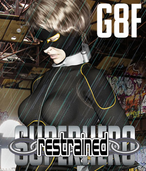 SuperHero Restrained for G8F Volume 1 3D Figure Assets GriffinFX