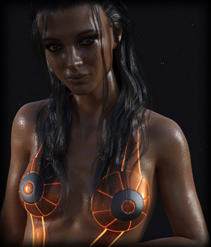 SCIFI SWIMWEAR-ONE for G8F 3D Figure Assets EdArt3D