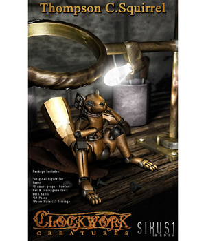 Clockwork Creatures: Thompson C. Squirrel 3D Models sixus1