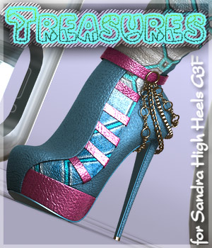 Treasures Sandra High boots G3F 3D Figure Assets alexaana