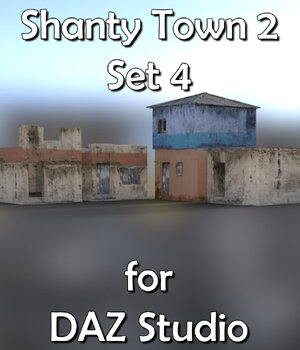 Shanty Town Buildings 2: Set 4 for DAZ Studio 3D Models VanishingPoint