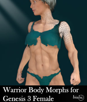 Warrior Body Morphs for Genesis 3 Female 3D Figure Assets biala