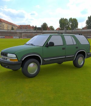 Chevy S10 Blazer 1998 for 3ds and obj - Extended License 3D Game Models : OBJ : FBX 3D Models Extended Licenses Digimation_ModelBank