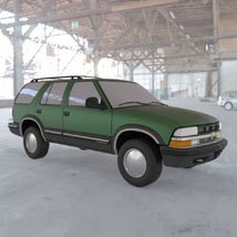 Chevy S10 Blazer 1998 for 3ds and obj - Extended License image 2