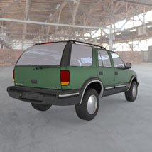 Chevy S10 Blazer 1998 for 3ds and obj - Extended License image 3