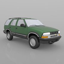 Chevy S10 Blazer 1998 for 3ds and obj - Extended License image 4