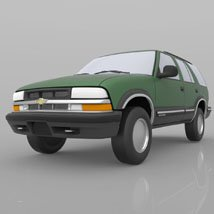 Chevy S10 Blazer 1998 for 3ds and obj - Extended License image 5
